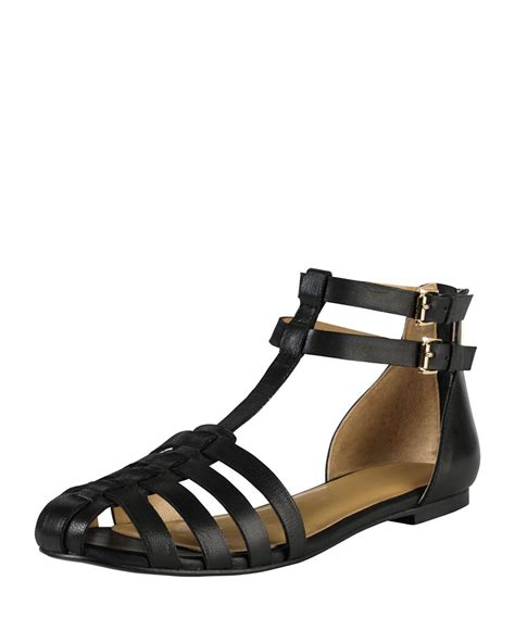 cole haan sandal lyst cole haan leather huarache sandal in black