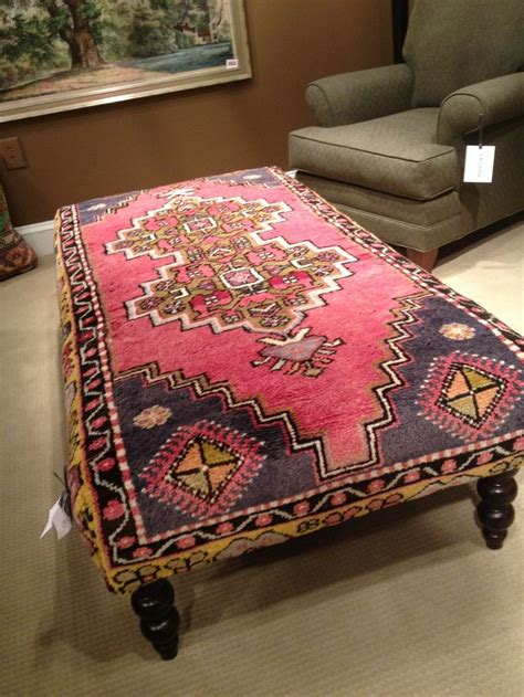 Rug Covered Ottoman Rug Upholstered Ottoman Furniture Ottomans Rugs And Upholstered Ottoman