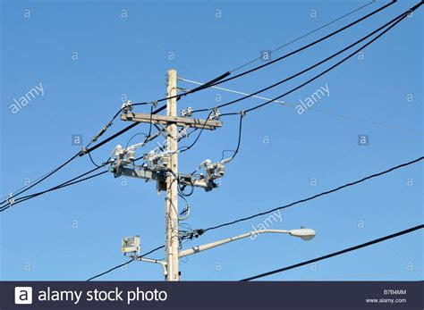 electric street light pole 88 electrical wires poles utility poles become