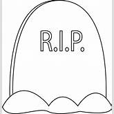 Black and White Tombstone Clip Art Image - black and white outline of ...