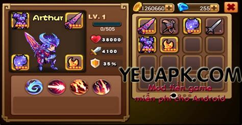 game android brave fighter mod brave fighter hd mod kim cương cho android