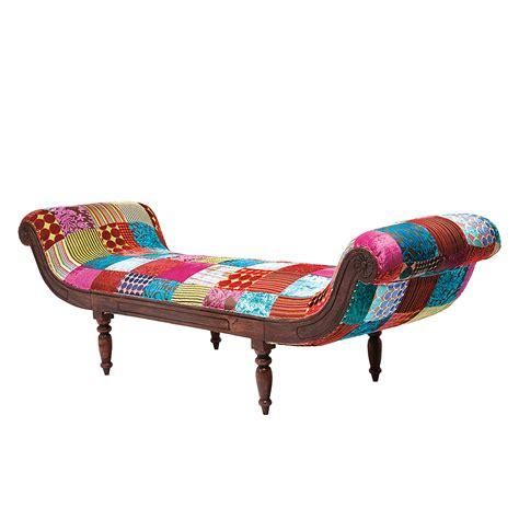 kare bank kare design sitzbank patchwork bunt recamiere chaiselongue