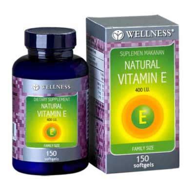 Vitamin Kulit Natur E jual wellness vitamin e 400 iu 150 murah harga grosir