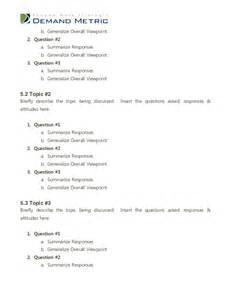 Focus Group Discussion Report Sample Focus Group Report Template
