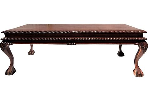 claw foot coffee table l156
