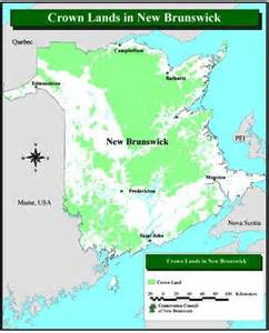 canada crown land map forestry in new brunswick