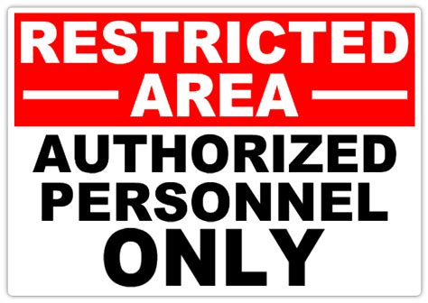 safety sign templates restricted authorized 101 restricted safety sign