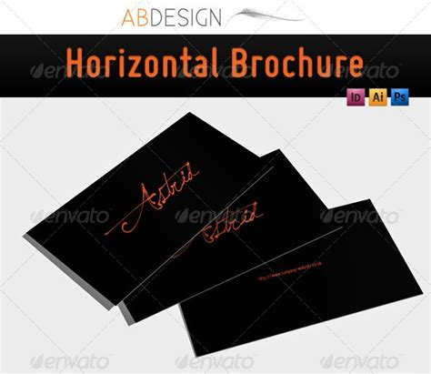 horizontal brochure template horizontal brochure