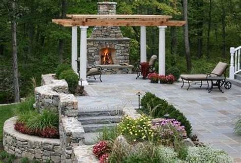 Outdoor Patio Ideas With Fireplace by The Outdoor Patio Fireplace Homeside To Poolside