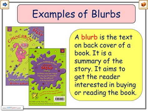 Blurb Exles By Chrisrichards Teaching Resources Tes Writing A Blurb Template