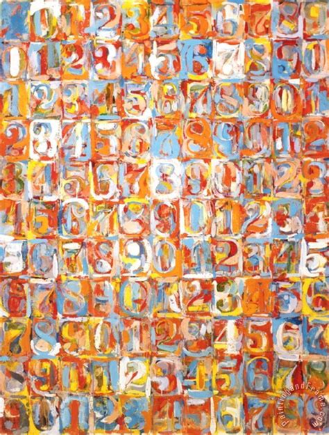 numbers in color painting by jasper johns