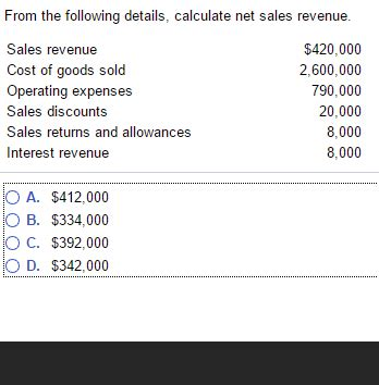 solved from the following details calculate net sales re