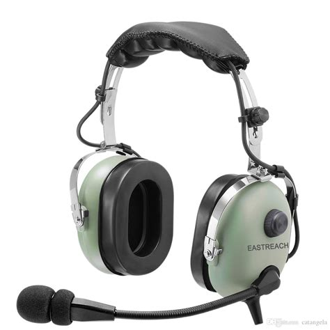 Headset Pilot eastreach aviation headset stereo pilot headset noise reduction headphone with microphone retail