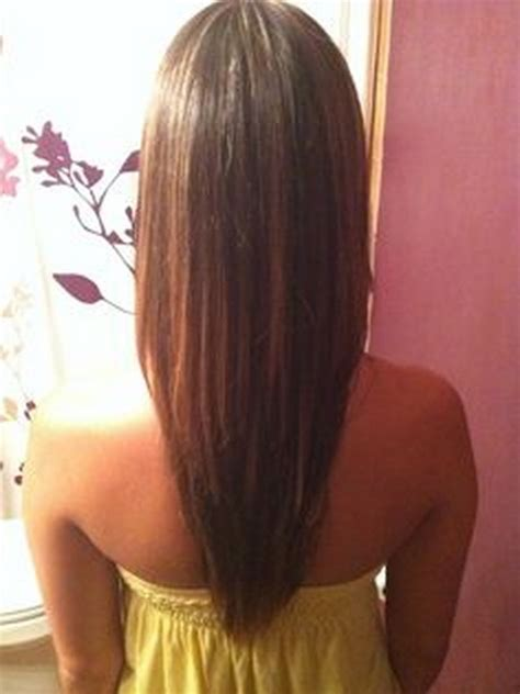 ladies hair u cut v shaped haircut long hair