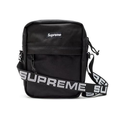 supreme bag supreme nyc 18ss shoulder bag black