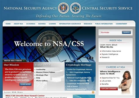 illuminati nsa misterio en pagina de ee uu national security agency