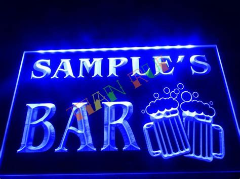neon sign home decor dz028 name personalized custom home bar beer mugs cheers