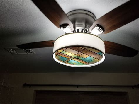 stained glass ceiling fan light kit gallery s t lighting llc