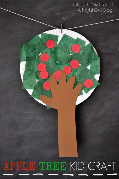 craft for kid apple tree craft a owl