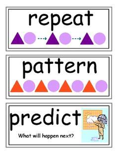pattern words for first grade patterns pattern blocks on pinterest pattern blocks