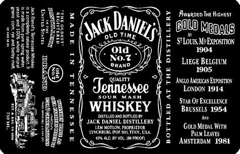 design jack daniels label jack daniels bottle 3d model c4d cgtrader com