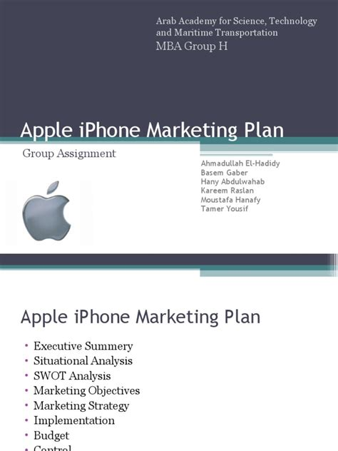 Marketing Plan Pdf Mba Helicopter by Apple Iphone Marketing Plan Apple Inc I Phone