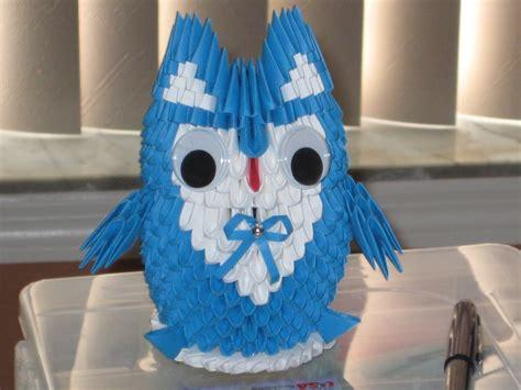 3d Origami Owl - mini owl 3d origami by esmeraldaarribas on deviantart