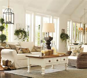 pottery barn looking simple and cozy with pottery barn living room