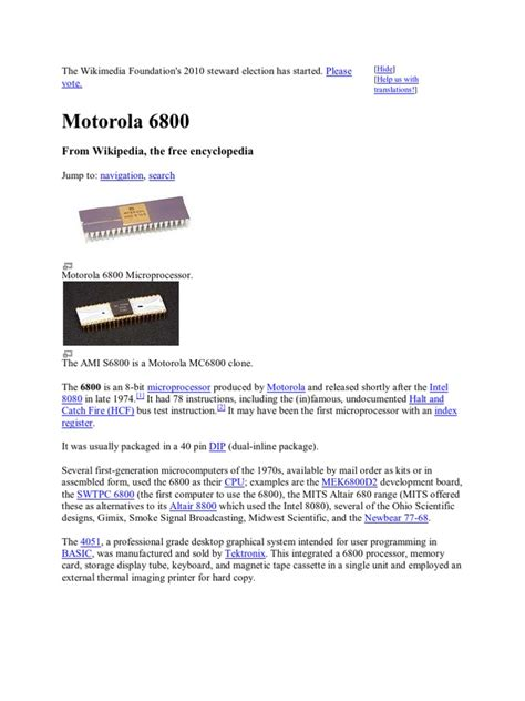 integrated circuits and central processing units motorola 6800 integrated circuit central processing unit