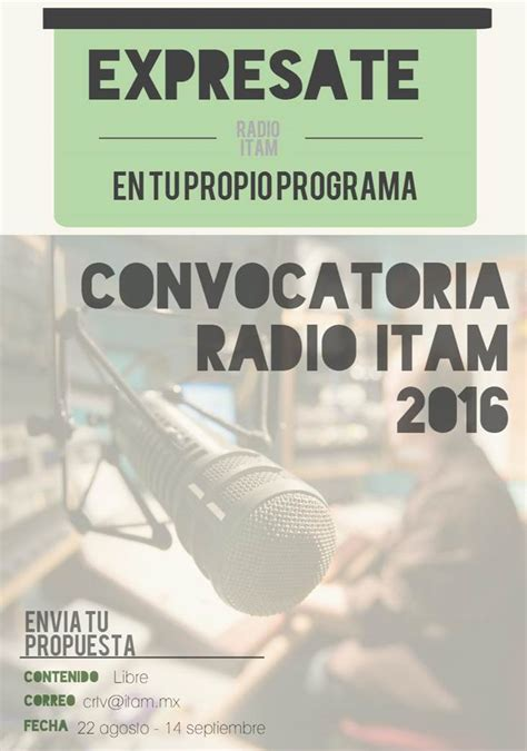 Calendario Itam Convocatoria Radio Itam Itam