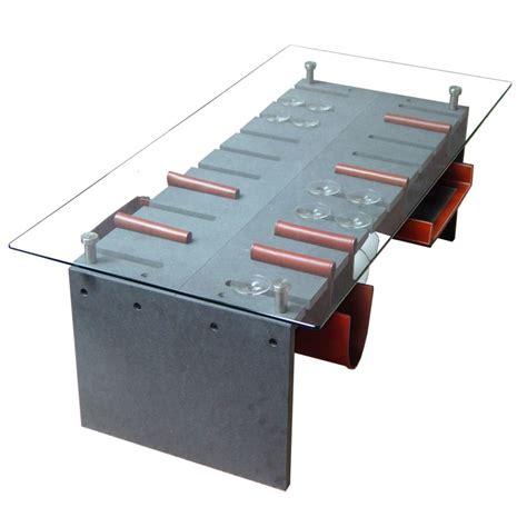 tables basses sur inox verre securit et valchromat