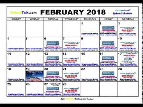 irs wheres my refund february 2018 update schedule