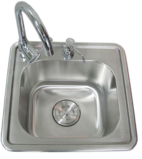 which side is water on a sink sunstone 17 inch single sink with cold water faucet