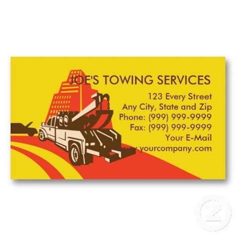 tow truck business card template 1000 images about tow truck business cards on