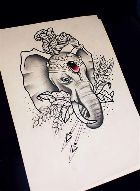 traditional elephant tattoo neo traditional elephant sketch benea