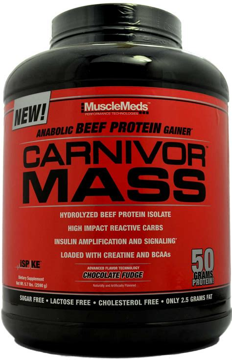 Carnivor Mass 10 Lbs Chocolate carnivor mass musclemeds zumbu formerly supplements