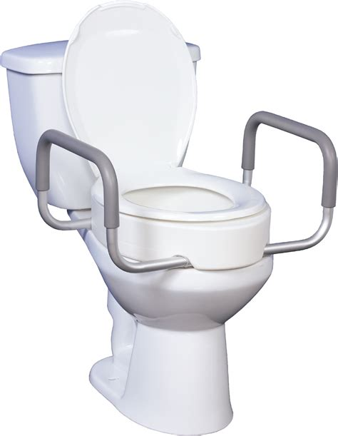 toilet seat riser toilet seat riser with removable arms bathroom safety