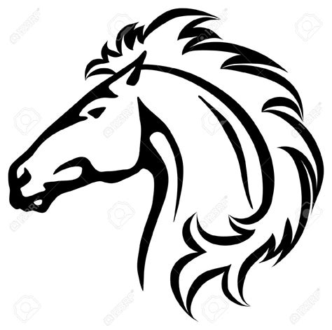 mustang horse drawing 53 mustang horse head clip art