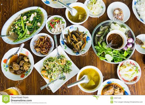 Extended Dining Table burmese food on a table stock photo image 43971425