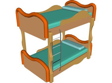 bunk bed 3d model 3d cad browser