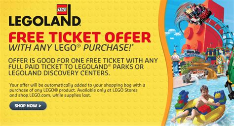 printable legoland tickets buy one get one free legoland tickets with lego shop