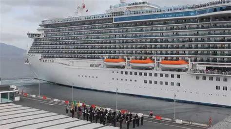 boat horn youtube royal princess leaving ponta delgada the love boat horn