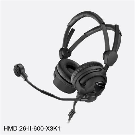 Sennheiser 35mm Stereo sennheiser hmd 26 ii 600 x3k1 headset stereo 600 ohm 300ohm dyn mic 2m cable 6 35mm xlr3m