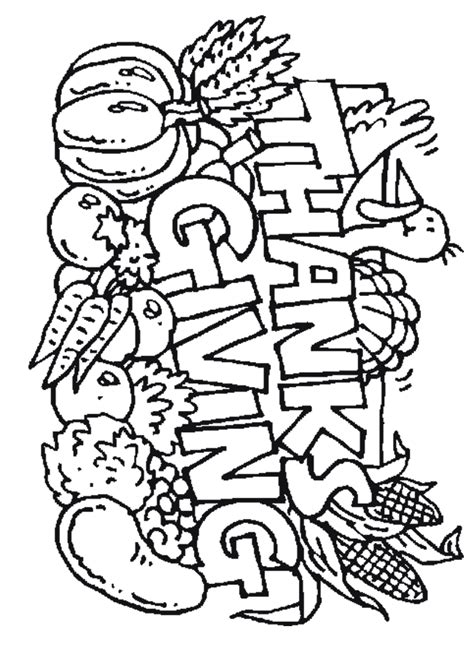 coloring pages thanksgiving coloring pages