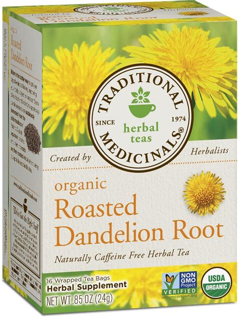 Yogi Roasted Dandelion Detox Tea Review by Traditional Medicinals Organic Roasted