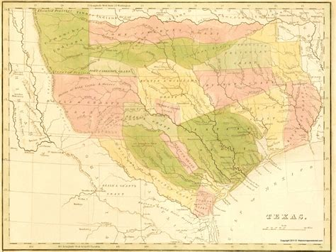 texas indian territory map state maps texas tx state map w grants indian territory circa 1819