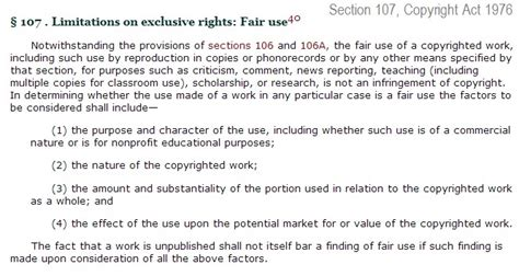under section 107 of the copyright act 1976 fair use disclaimer why usana