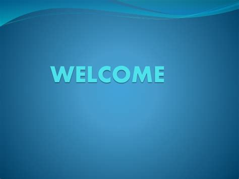 welcome slides for ppt presentation my powerpoint presentation