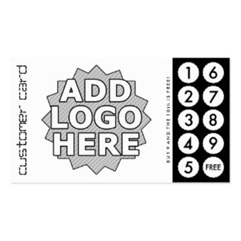 business punch card template free punch business cards templates zazzle