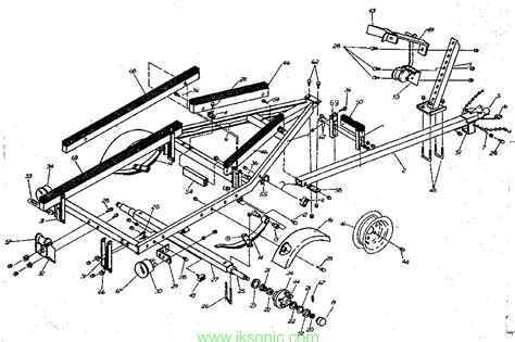 boat trailer axle assembly diagram boat trailer parts iksonic leading manufacturer supplier